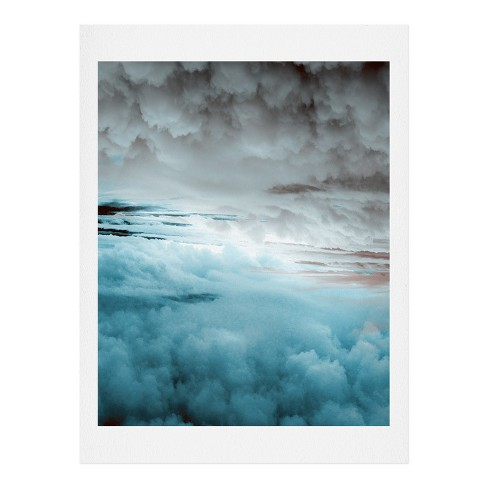 Caleb Troy  Glacier Painted Clouds Art Print - image 1 of 1