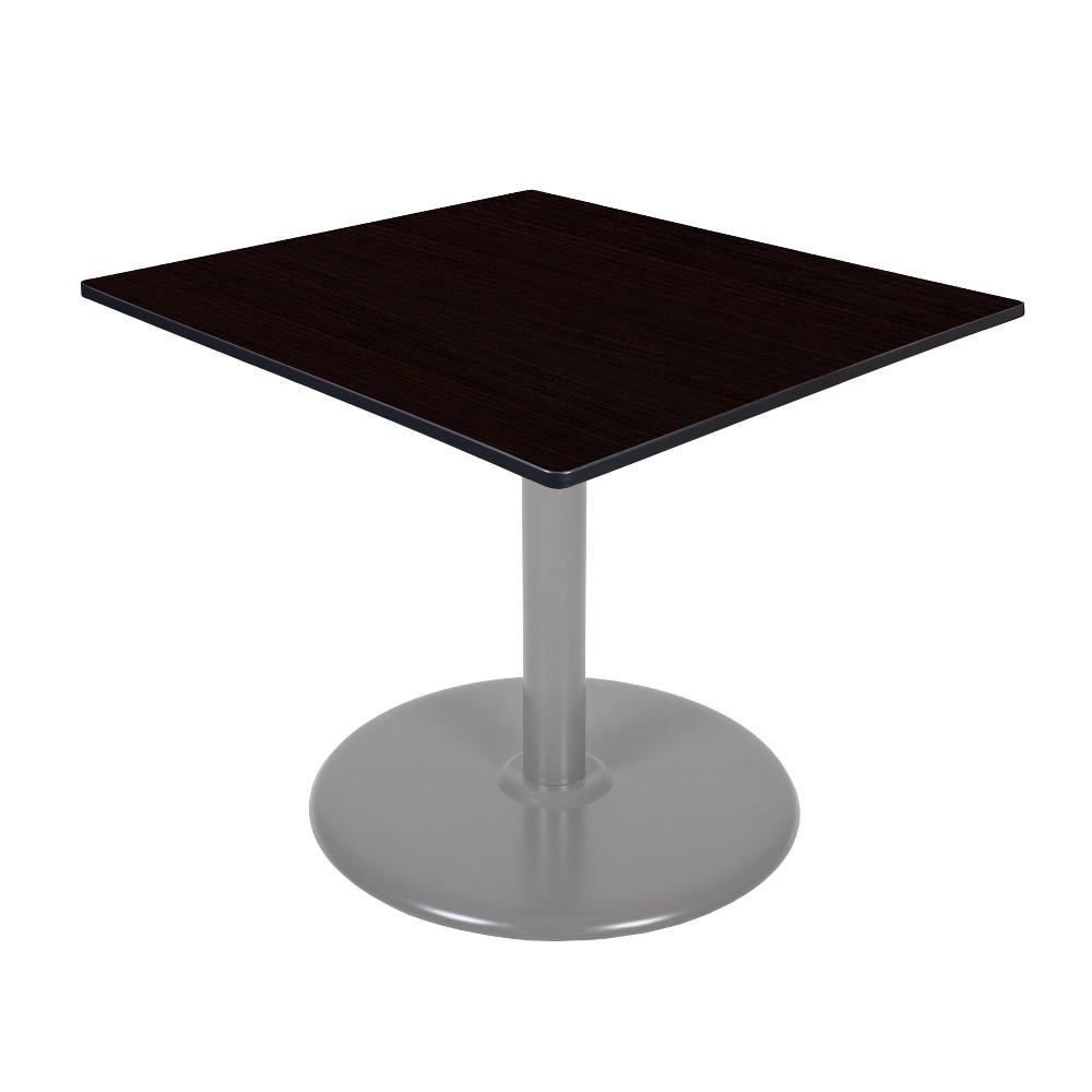 48 Via Square Platter Base Table Espresso/Gray (Brown/Gray) - Regency
