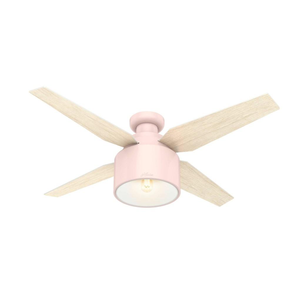 "Image of ""52"""" LED Cranbrook Ceiling Fan with Light Blush Pink - Hunter Fan"""
