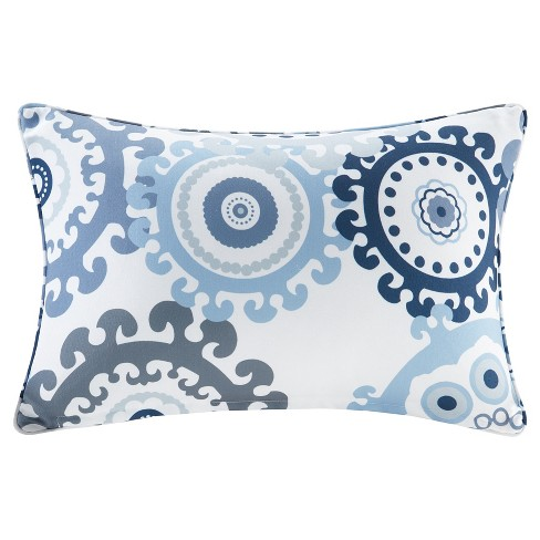Marina Printed Medallion 3M Scotchgard Outdoor Oblong Pillow - image 1 of 3