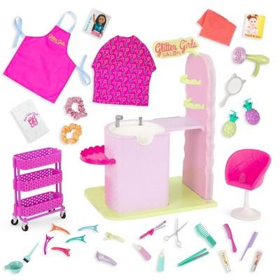"Glitter Girls Hair Salon Playset & Styling Accessories for 14"" Dolls"