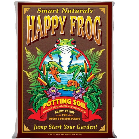 Foxfarm Fx14047 Ph Adjusted Happy Frog Organic Potting Soil Mix 2 Cubic Feet Bag - image 1 of 5