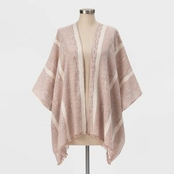 Women's Textured Striped Kimono - Universal Thread™ Clay
