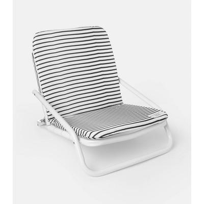 Brush Stripe Aluminum Outdoor Portable Beach Chair - Local Beach