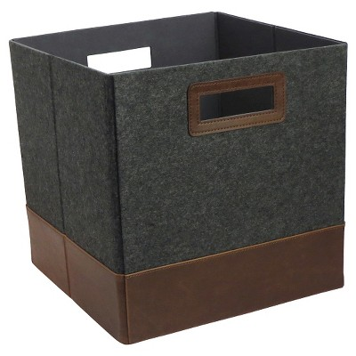 Fashion Cube Storage Bin 13  - Blue Gray Pattern - Threshold™