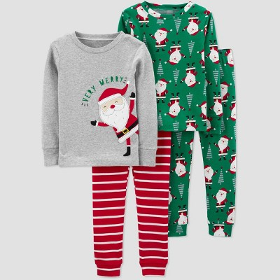 Baby Boys' 4pc Santa Pajama Set - Just One You® made by carter's 9M