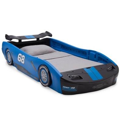 Twin Turbo Race Car Bed Blue - Delta Children