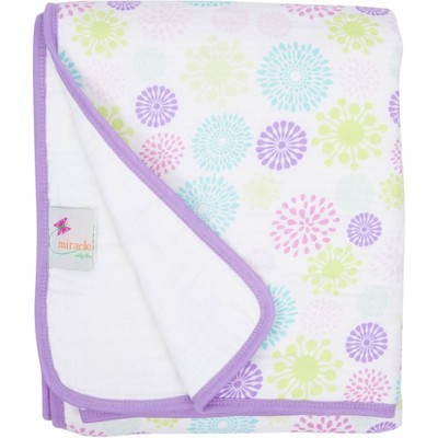 MiracleWare Muslin Baby Blanket - Colorful Bursts