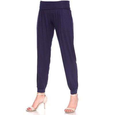 Women's Harem Pants - White Mark