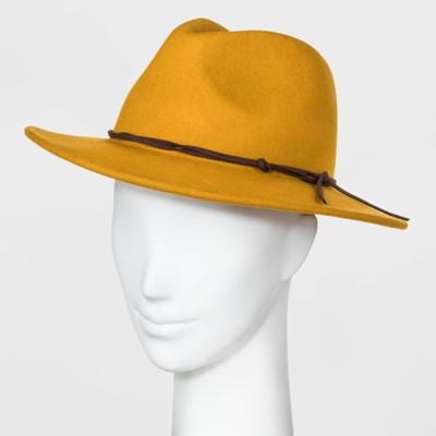 Women's Felt Fedora Hat - Universal Thread™ Yellow One Size