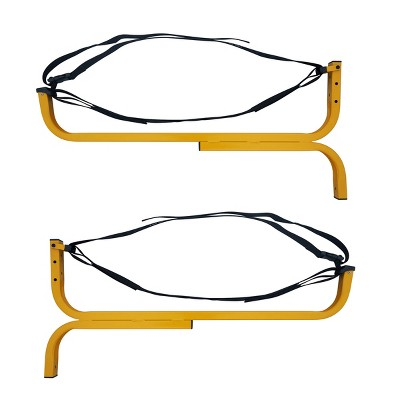 """Leisure Sports 1232 Level Canoe Hanger, Kayak Rack, and Stand-Up Paddleboard Holder- 15"""" x 32"""" x 2"""", Yellow"""