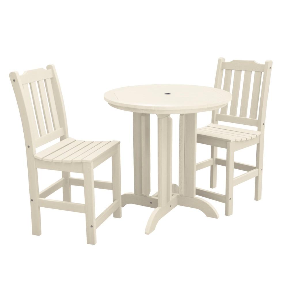 Lehigh 3pc Round Counter Dining Set Whitewash - Highwood, Off White