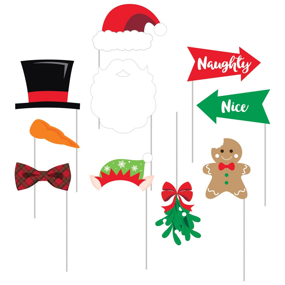Image of 10ct Christmas Photo Booth Props