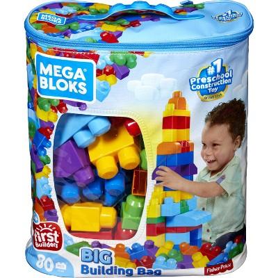Mega Bloks First Builders Big Building Bag - Classic 80pc