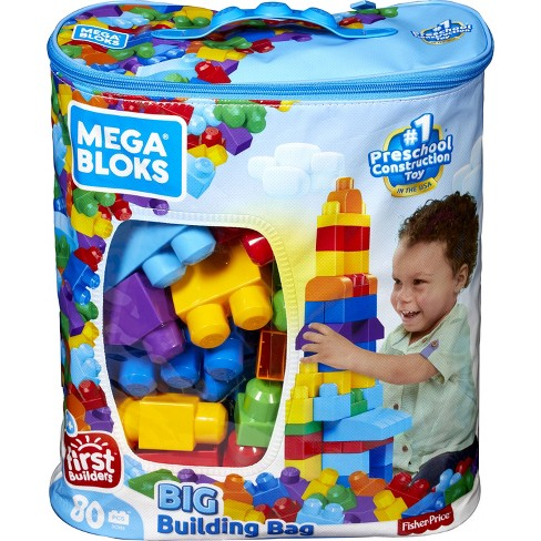 Mega Bloks First Builders Big Building Bag - Classic 80pc - image 1 of 15