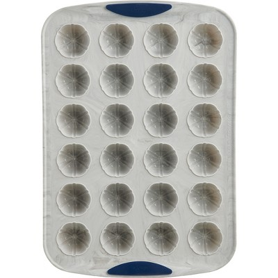 Trudeau Marble 24 Count Mini Cake Pan, Set of 2