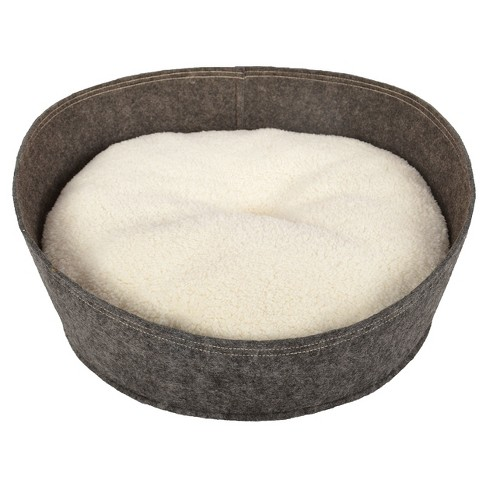 Circle Pet Bed - Small - Radiant Gray - Boots & Barkley™ - image 1 of 2