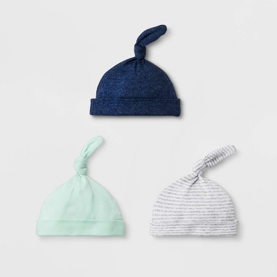 Baby Boys' 3pk Hat - Cloud Island™ Blue Newborn