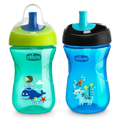 Chicco Straw Trainer Sippy Cup 9M+ - Blue/Teal - 2pk/9oz