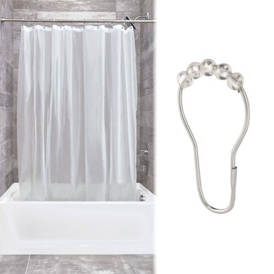 Shower Curtain Liner With Rollerz Frost - iDESIGN