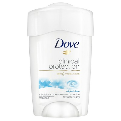 Deodorant: Dove Clinical Protection