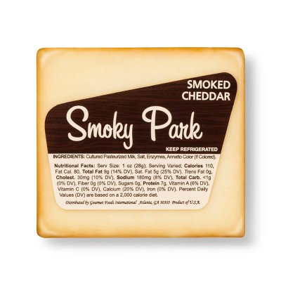 Smoky Park Smoked Cheddar Cheese Wedge - 7oz