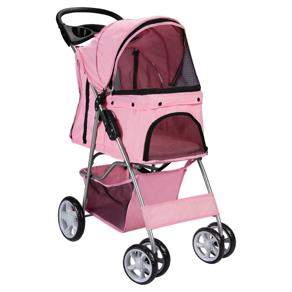 Paws & Pals 4-Wheel Pet Stroller - Pink