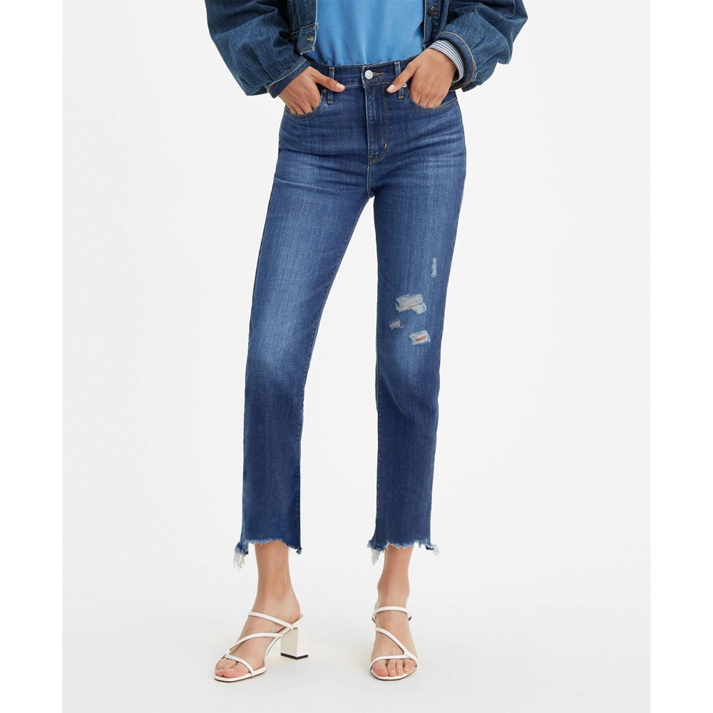 Levi 39 S 174 Women 39 S 724 8482 High Rise Straight Cropped Jeans Lapis Sun 29