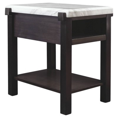 Janilly Chairside End Table Dark Brown/White - Signature Design by Ashley