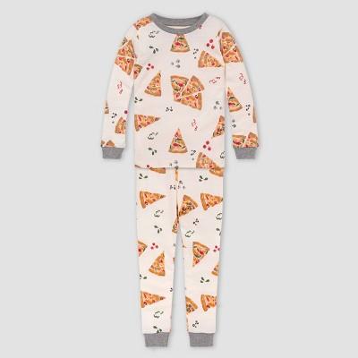 Burt's Bees Baby® Boys' 2pc Pizza Organic Cotton Pajama Set - Heather Gray