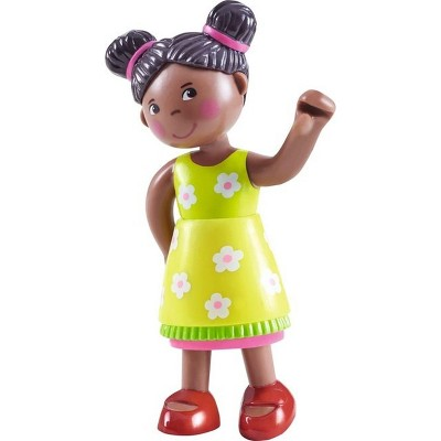 """HABA Little Friends Naomi - 4"""" Girl Dollhouse Toy Figure with Pig Tails"""