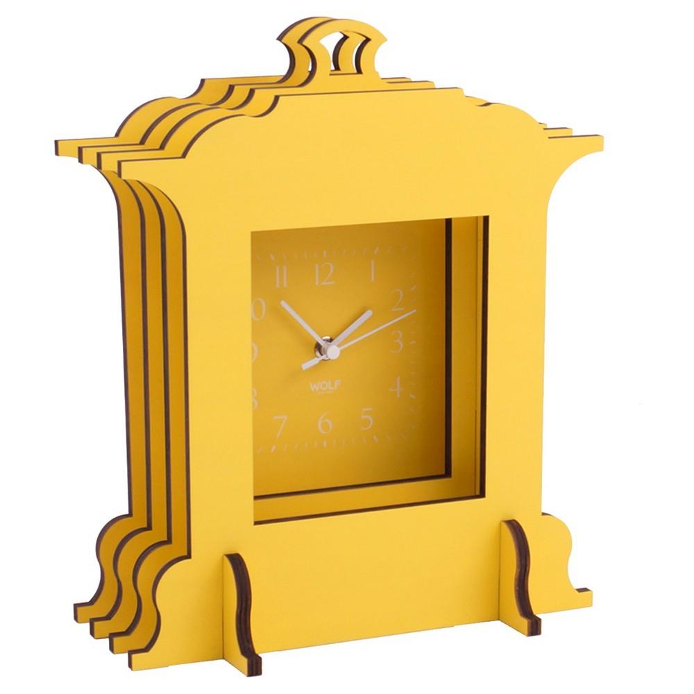 Image of Jigsaw Grand Mantel Clock Yellow - WOLF
