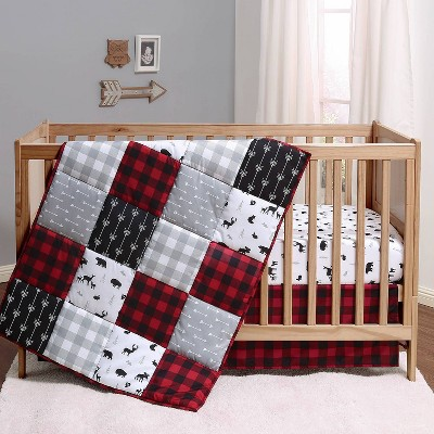 PS by The Peanutshell Buffalo Plaid Crib Bedding Set - 3pc