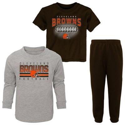 NFL Cleveland Browns Toddler Boys' Gametime Fun T-Shirt & Pants Set 3pk