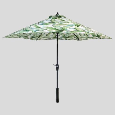 9' Round Vacation Tropical Patio Umbrella Green ...