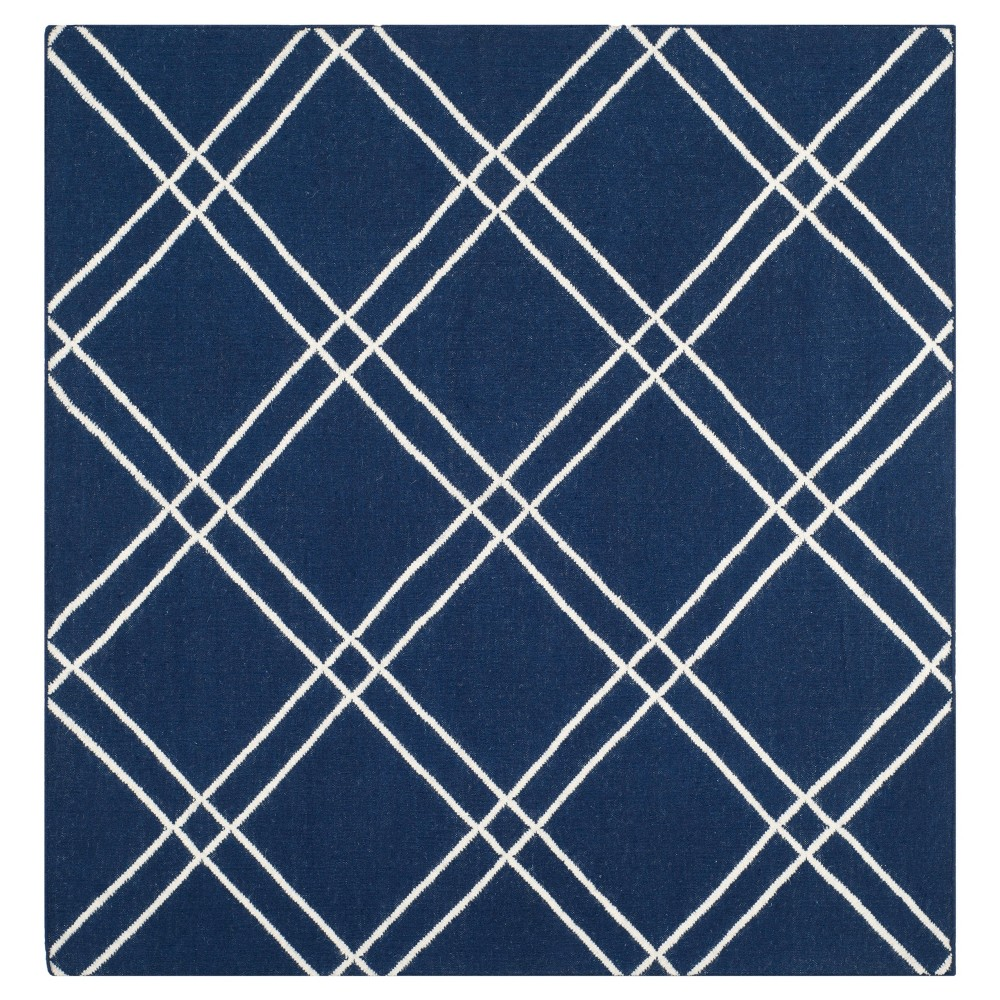Coupons Dhurries Rug - Navy Ivory - (6x6 Square) - Safavieh