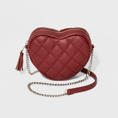 af9a909bdd Girls  Heart Crossbody Bag - Art Class™ Red   Target