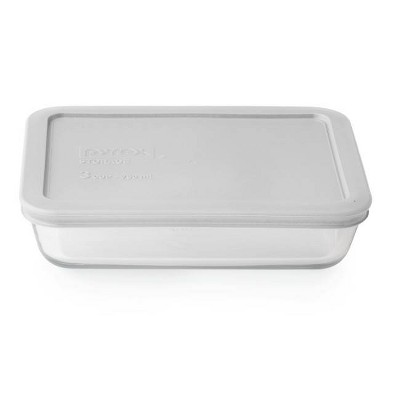 Pyrex 3cup Rectangular Food Storage Container Silver