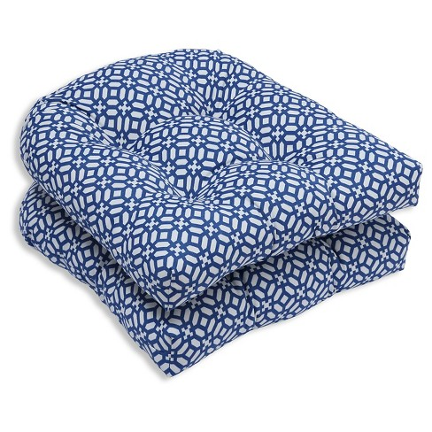 Pillow Perfect In The Frame Sapphire Outdoor Cushion Set - Blue - image 1 of 1