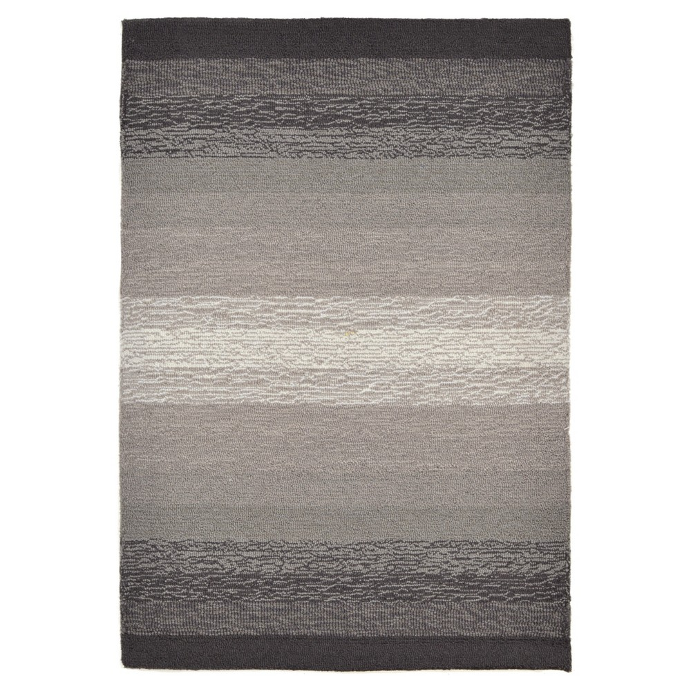Gray Abstract Tufted Accent Rug - (2'x3') - Liora Manne