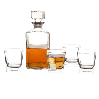 5pc Glass Whiskey Decanter Set - Cathy's Concepts