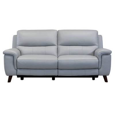 Lizette Contemporary Leather Power Recliner Sofa with USB Gray - Armen Living
