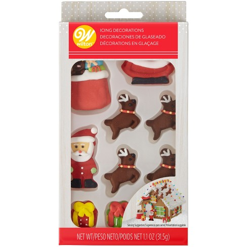 Wilton Christmas Icing Decorations - 10ct/1.1oz : Target