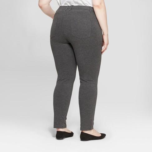 3f2c2067b94 Women s Plus Size Ponte Pants With Comfort Waistband - Ava   Viv™ Heather  Gray 18W   Target