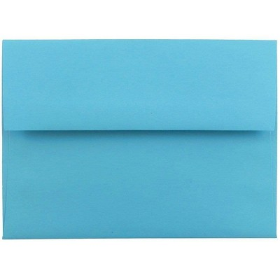 JAM Paper A6 Colored Invitation Envelopes 4.75 x 6.5 Blue Recycled 94523