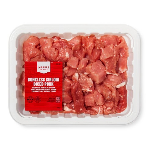 Boneless Sirloin Diced Pork - 16oz - Market Pantry™ - image 1 of 1