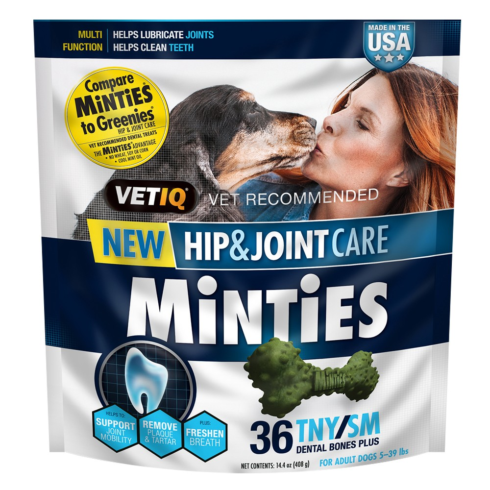 Vet IQ Minties Hip and Joint 14.4 oz Tiny/Small