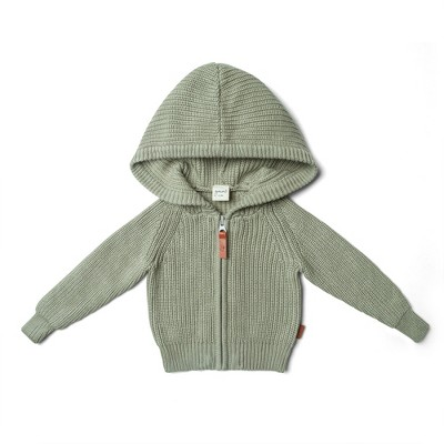 Goumikids Organic Cotton Knit Hoodie for Infants