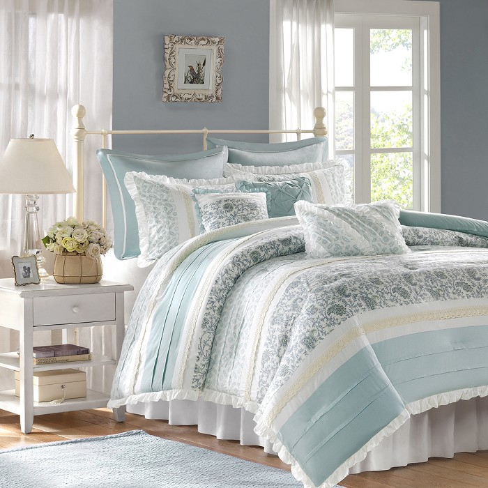 Stella Printed Comforter Set 9pc - image 1 of 6