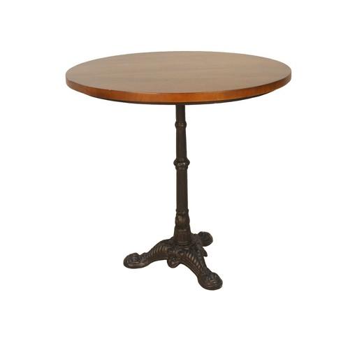Mila Pedestal Base Dining Table Brown/Black - Carolina Chair & Table - image 1 of 3